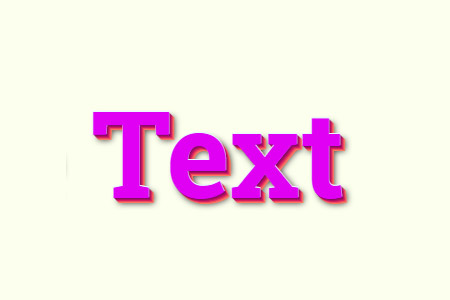 Css text effect template