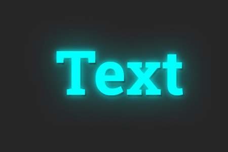 Neon effect for small text template