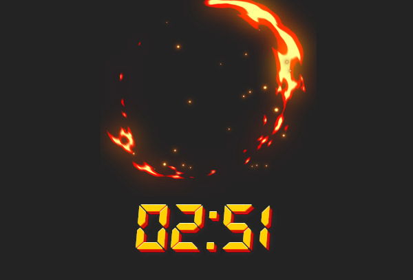 Countdown + animated effects