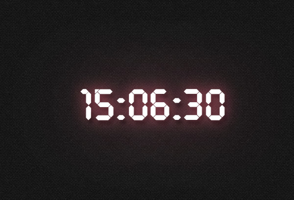 Digital clock - simple stroke