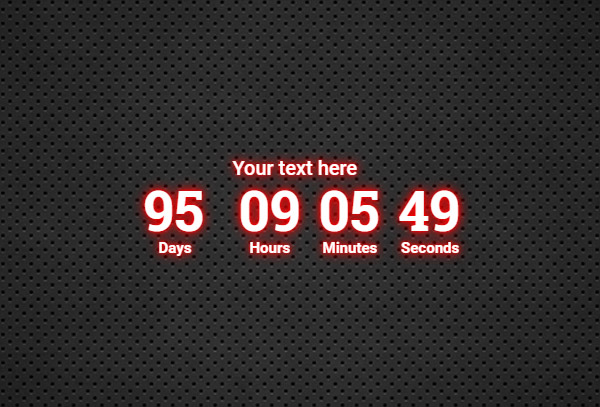 Countdown red