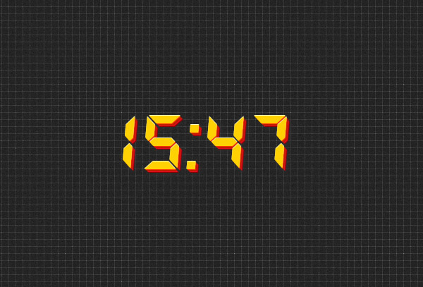 Digital clock no seconds