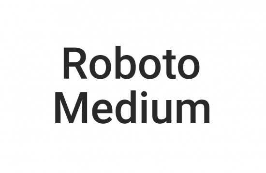 Roboto Medium