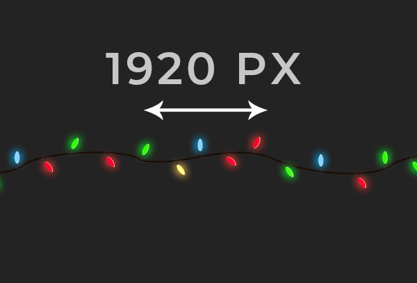 Christmas lights animated