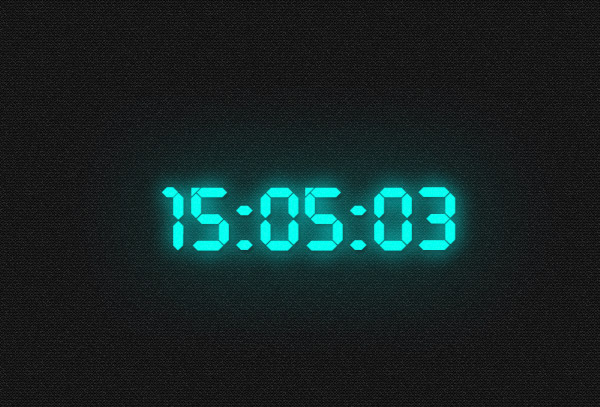 Digital clock - neon