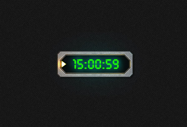 Digital clock - Overwatch frame