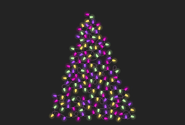 Christmas tree animated