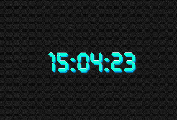 Digital clock - white